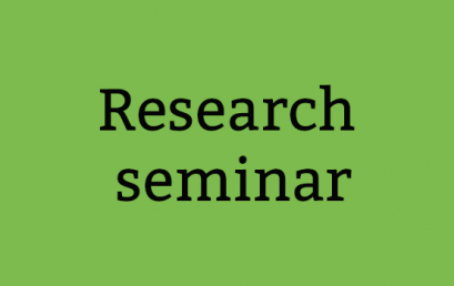 Research Seminar, 13th of January 2015
