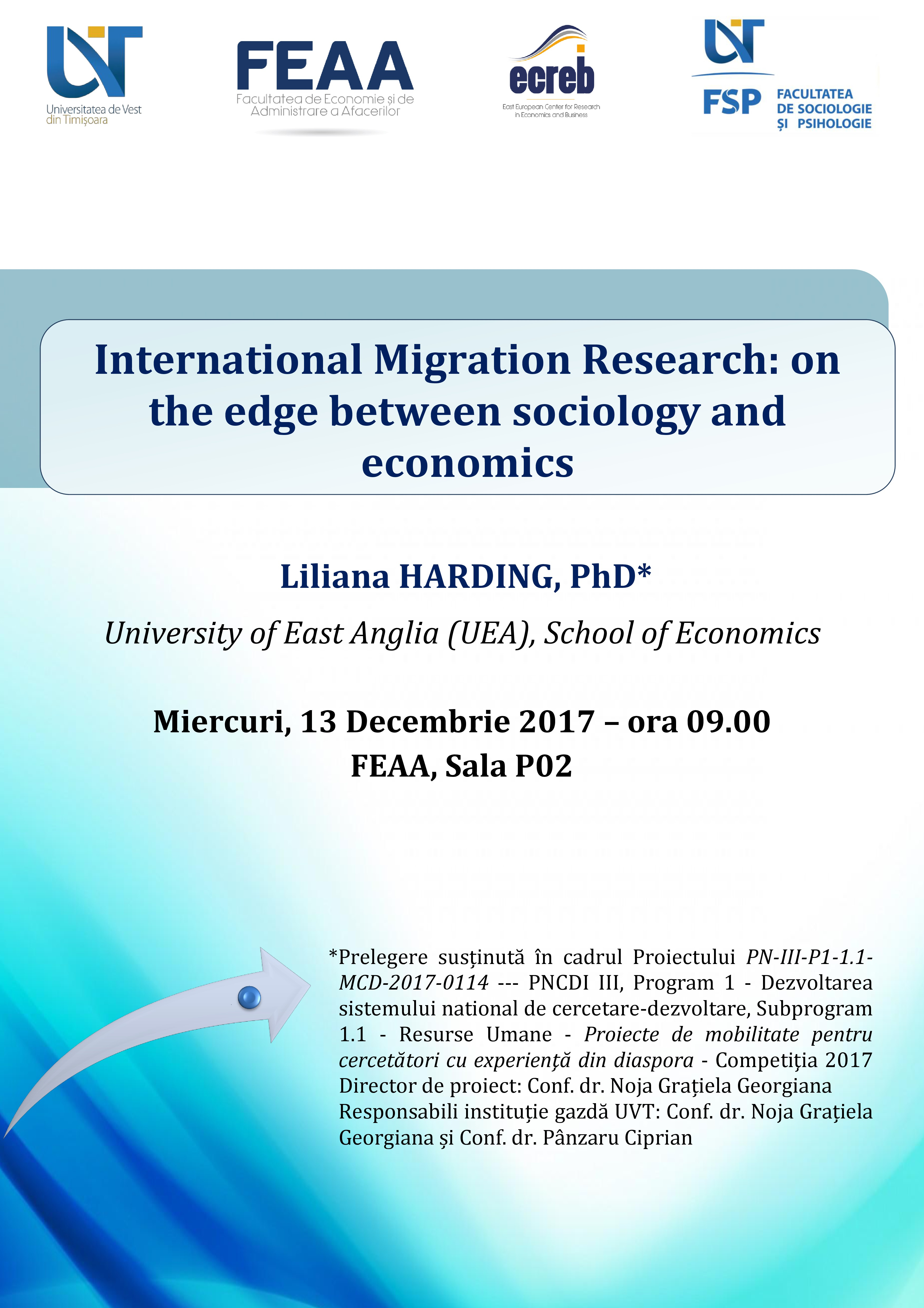 Afis Prelegere International Migration Research