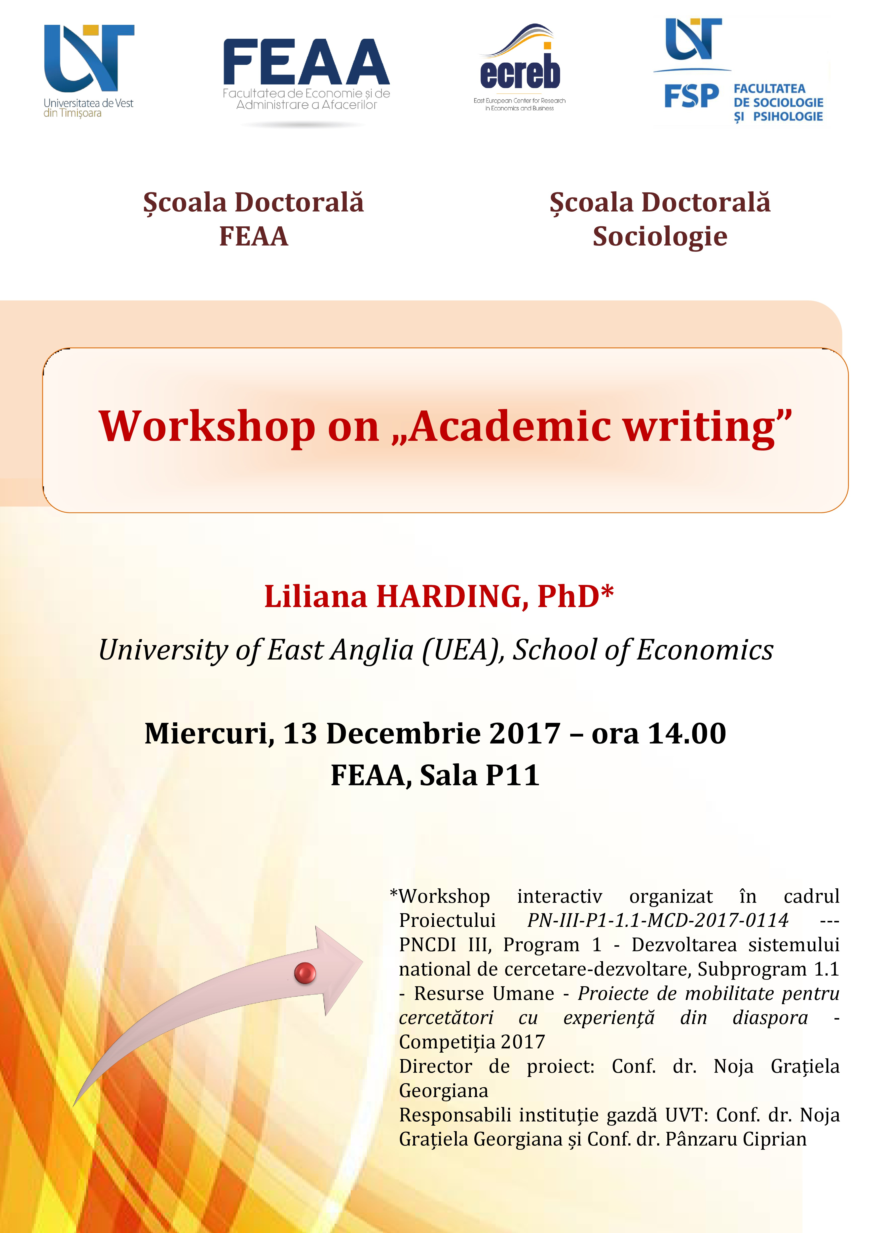 Afis Workshop Academic writing