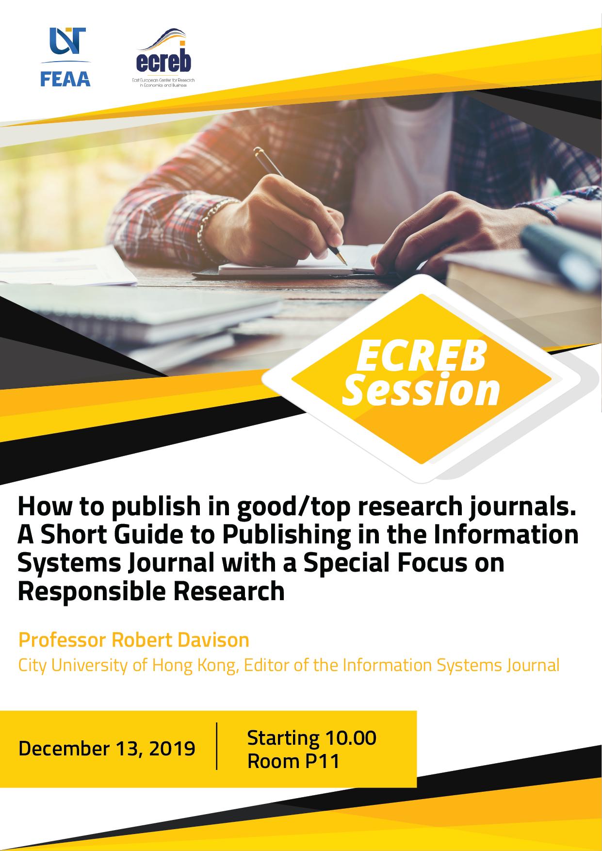 Ecreb Session Professor Robert Davison (2)